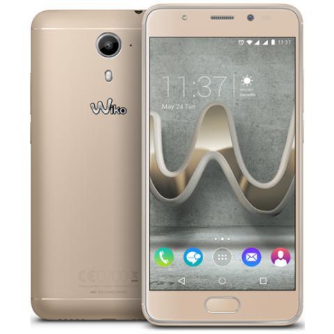 """WIKO UFeel Prime Oro 32 GB 4G/LTE Dual Sim Display 5"""" Full HD Slot Micro SD Fotocamera 13 Mpx Android Italia"""