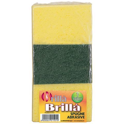 LA BRIANTINA Spugne Abrasive Tris Brilla'