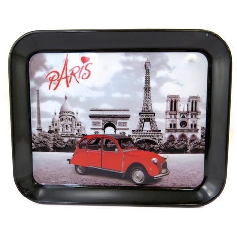 piccolo vassoio 'week-end a paris' black vintage (15x20 cm) - [ m1337]