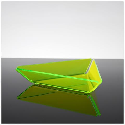 Ciotolina Per Aperitivi Finger Food Snack Design Moderno In Plexiglass Bao - Colore Verde Fluo