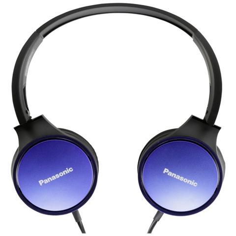 PANASONIC Cuffie con Microfono Cablato Colore Blu e Nero