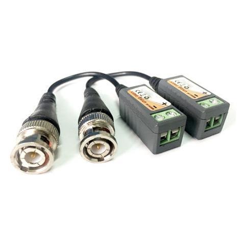 takestop Coppia Cavi Video Trasmissione Hdcvi Utp Cat5 Cat5e Cat6 Balun Bnc-m Morsetti Passivi Max 300 Mt 1080p Telecamera Dvr Tvcc Cctv