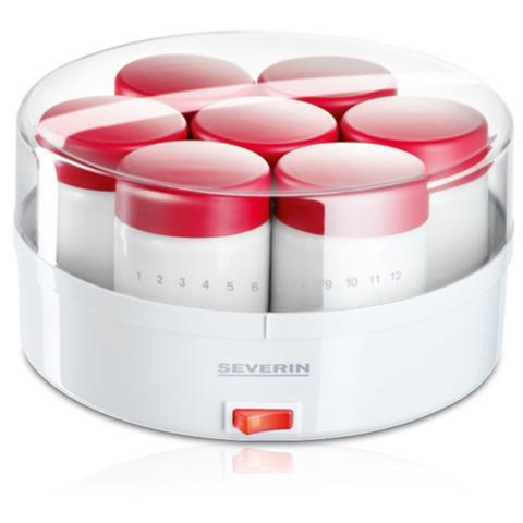 Yogurtiera con 14 Vasetti JG 3519 13 W Colore Bianco / Rosso