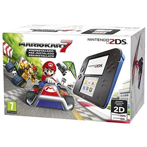 Image of Console 2DS HW Nero+Blu+ Mario Kart 7