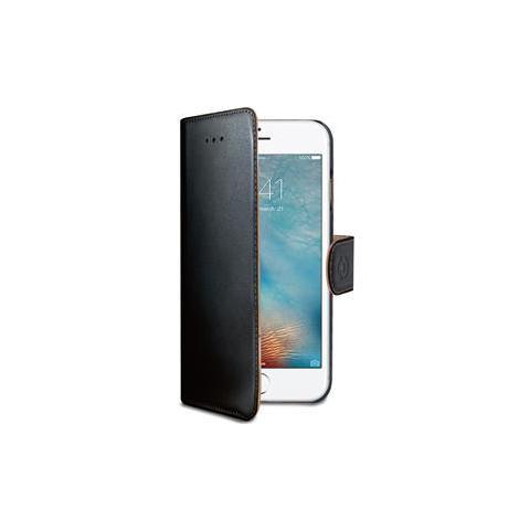 CELLY Flip Cover Custodia Wally in pelle per iPhone 7 Plus - Nero
