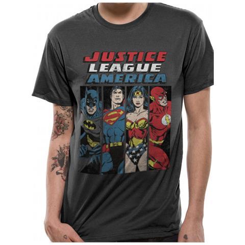 CID Justice League - Line Up (T-Shirt Unisex Tg. 2Xl)
