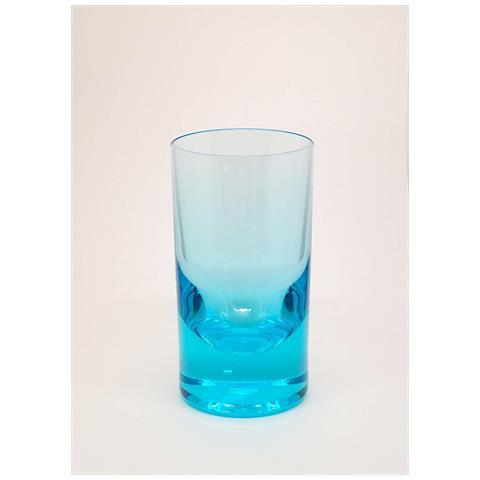 Set 6 Bicchieri, Tumbler Wiskey Turchese, Acrilico