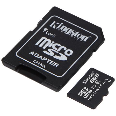 KINGSTON MicroSDHC da 8GB Class 10 UHS-I + Adattatore