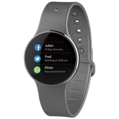 MyKronoz Smartwatch Zecircle 2 Mykronoz Activity Tracker In Alluminio In Grado Di Visualizzare L'ora E Memorizzare I Passi La Distanza E Le Calorie Bruciate Colore Grigio
