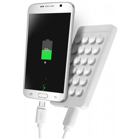 SBS PowerBank 2.300 mAh Li-Polymer con 1 uscita USB 1A extra slim - Bianco