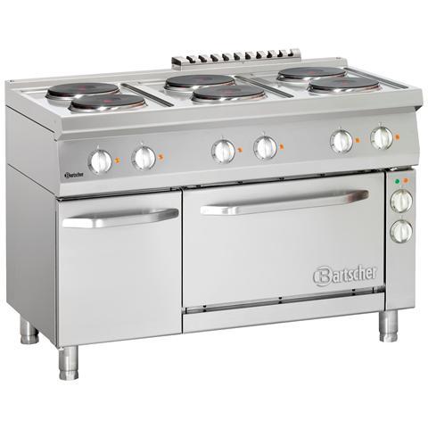 286246W Cucina 6 piastre elettriche forno convezione GN1/1 120X70x85