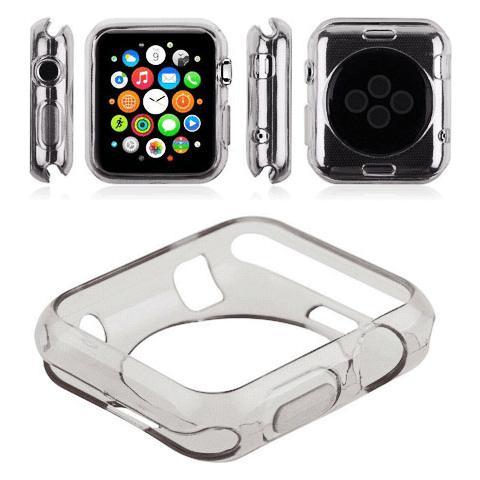 FONEX Bumper Protettivo Defender in morbito TPU per Apple Watch da 38mm - Trasparente