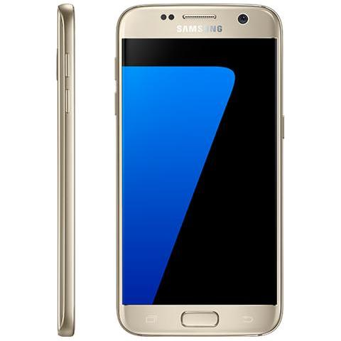 """SAMSUNG Galaxy S7 Oro 32 GB 4G / LTE Impermeabile Display 5.1"""" Quad HD Slot Micro SD Fotocamera 12 Mpx Android Tim Italia"""