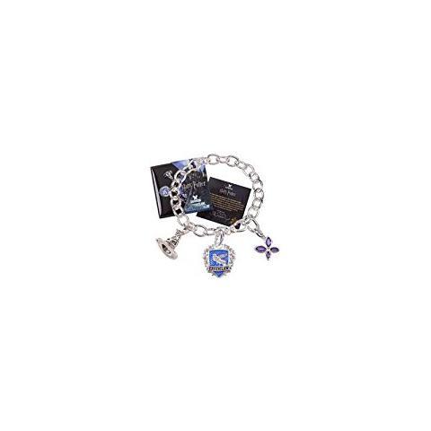 NOBLE COLLECTION Braccialetto Corvonero Harry Potter Charm Bracelet Lumos Ravenclaw (silver Plated)