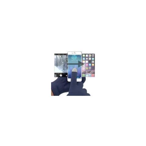Universal Guanti Per Schermi Touch Con Materiale Conduttivo Su 3 Dita Dark Blue Tg Universale