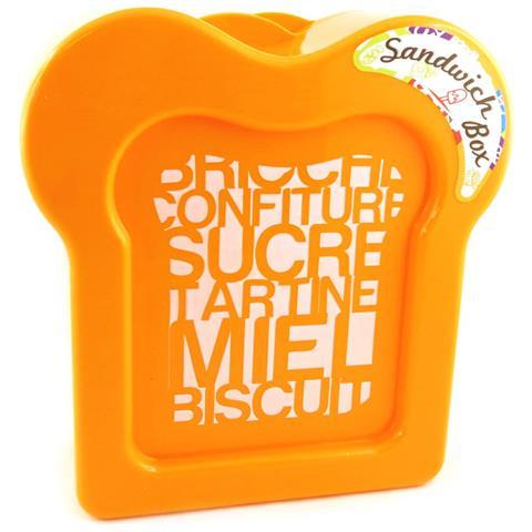 panino box 'coloriage' arancione - [ m3959]