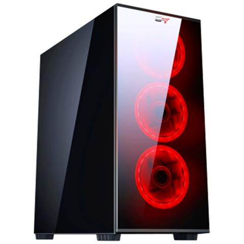 Image of Pc Computer Da Gioco Gaming Case Vetro + Led / Quad Core I7 8gb 240gb 1tb Rx 550