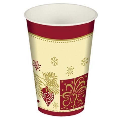 PIERROT S.R.L. Confezione 10 Bicchieri Natale 200 Cc