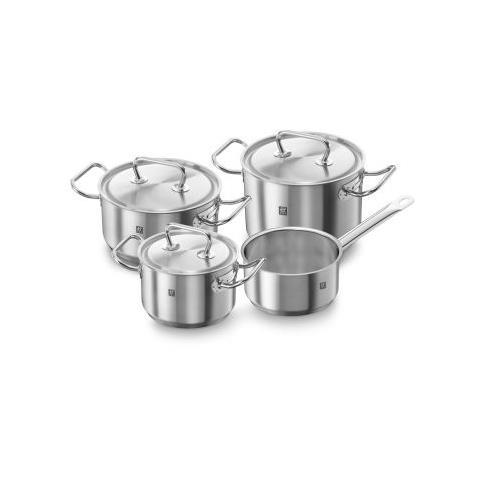 Set di pentole TWIN Classic in acciaio Inox 4 pezzi