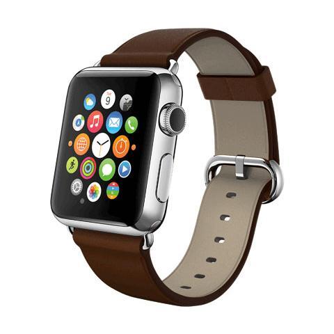 FONEX Cinturino WristBand in vera pelle per Apple Watch da 38mm - Marrone