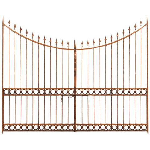Cancello In Ferro Pieno L345xpr4xh270 Cm