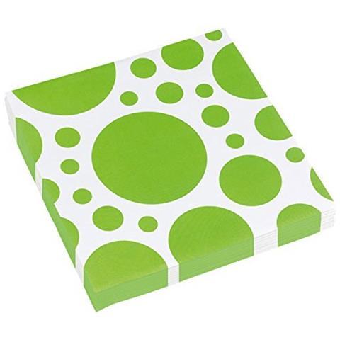 GIOCOPLAST Solid Colour Dots Kiwi - 20 Tovaglioli 33x33cm