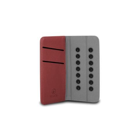 """ATLANTIS LAND Custodia Universale in Pelle per Smartphone 4"""" - Colore Rosso"""