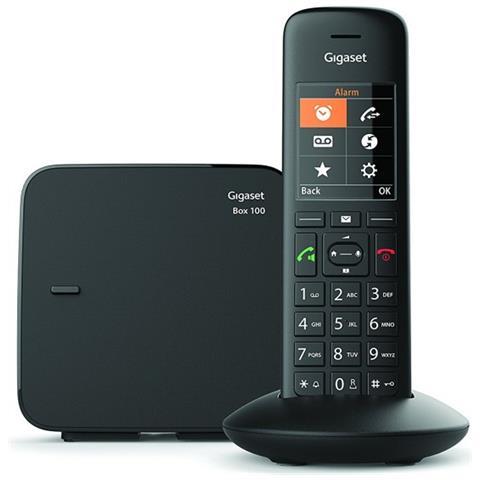 Gigaset Telefono Cordless C570 DECT con Vivavoce 200 Numeri Colore Nero - Italia