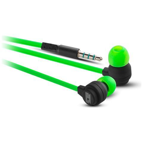 BG Xonar-IE Auricolare Stereofonico Cablato Nero, Verde auricolare per telefono cellulare
