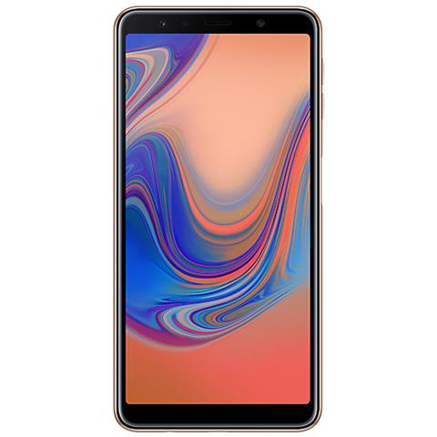 Image of Galaxy A7 (2018) Dual Sim Oro Display 6' FHD+ Octa Core Ram 4GB Storage 64GB +Slot MicroSD Wi-Fi / 4G LTE Fotocamera 24MP Android - Tim Italia