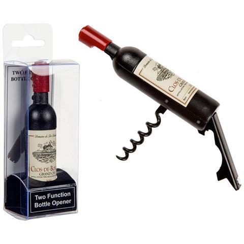 Apribottiglia A Forma Di Bottiglia Di Vino Con Etichetta Cava Tappi In Metallo