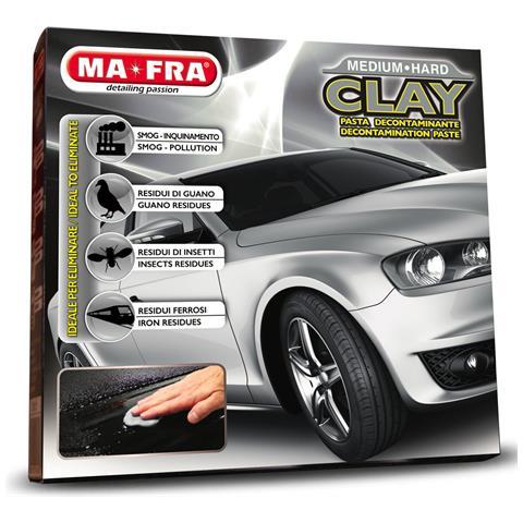 Clay Medium Hard Pasta Decontaminante Lucida Elimina Sporco Smog Auto Chiare