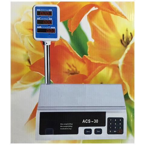 Bilancia Pesa Max 30 Kg Digitale Elettronica Professionale Grammi Chilo Chili