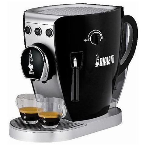 Macchina da Caffè Tazzissima Nera con Ricarica Capsule Cialde e Caffè Macinato