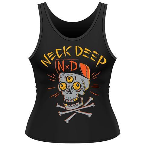 PHM Neck Deep - Skulls (Canotta Donna Tg. L)