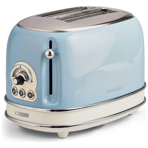 Tostapane Vintage a 2 Fette Potenza 810 W Colore Azzurro