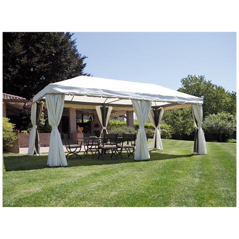 Gazebo Quadrato Con Tende Laterali Per Ristoranti E Giardini 3 X 6 Metri