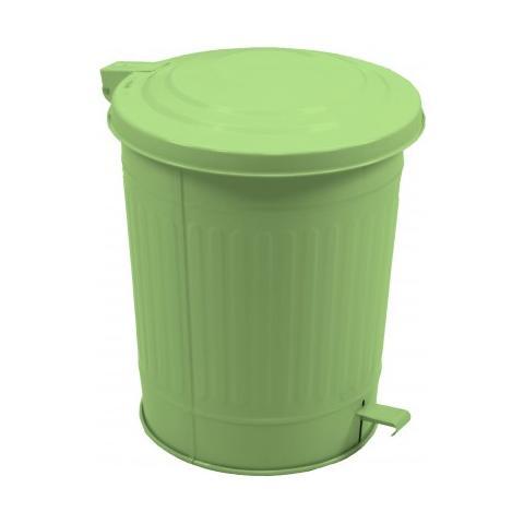 Vacchetti Bidone Latta Con Pedale Verde Pistacchio 40 Lt