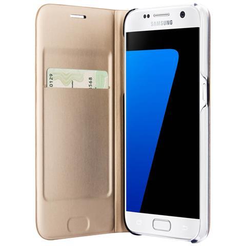 SAMSUNG Custodia A Libro Ultra Sottile Originale Samsung Per Samsung Galaxy S7 - Oro