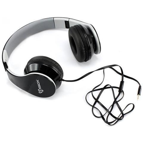 SBOX Cuffie Stereo con microfono HS-501B Nero