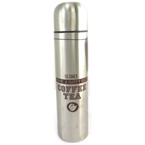 trasporto delle bottiglie 'design' marrone acciaio (1 litro) - [ l8770]