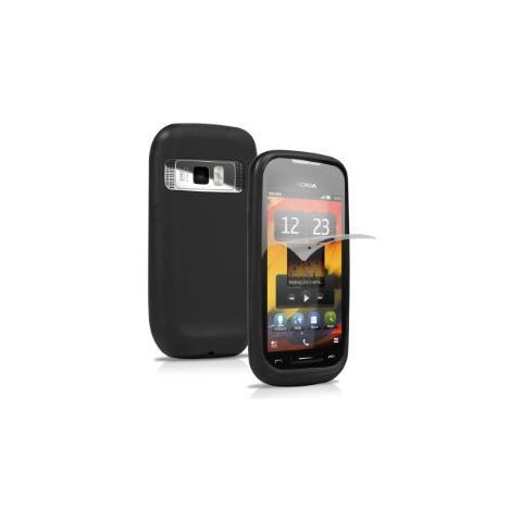 SBS Cover in silicone Flex per Lumia 701 - Nero