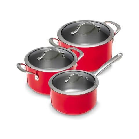 Kuhn Rikon Set di pentole Colori 3 pezzi colore rosso