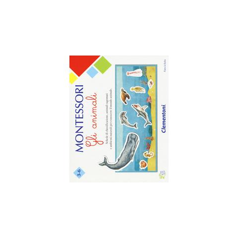 PLAYMATES 16100-montessori-gli Animali, Gioco Educativo, Multicolore, 16100