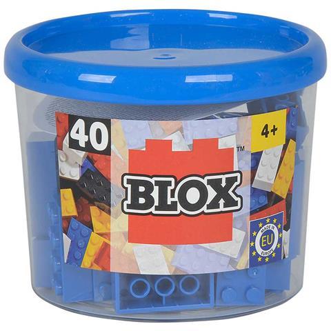 BLOX Mattoncini Piccoli 4x2 - Barattolo 40 Pz - Colore Blu