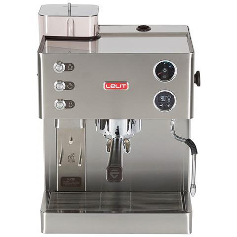 Macchina da Caffè Espresso Manuale con Macinacaffè Potenza 1200 Watt Capacità 2,5 Litri