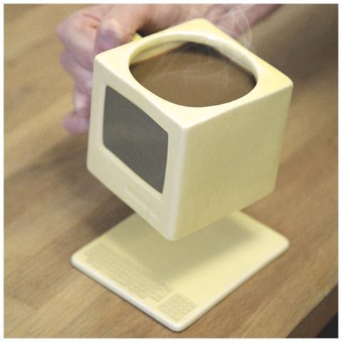 Tazza a forma di computer idea regalo originale per Natale e compleanni