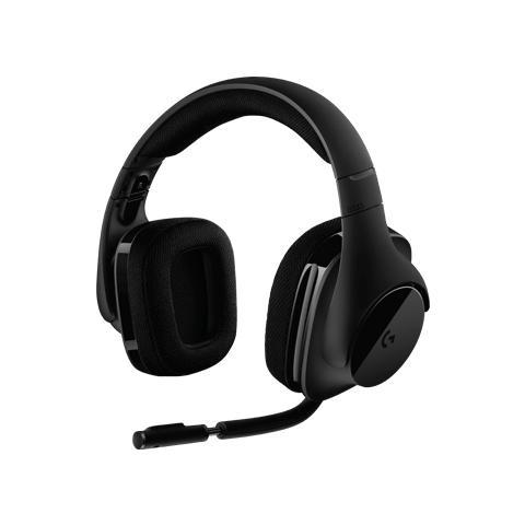 Image of G533 Cuffie Gaming Wireless con Microfono, DTS Headphone: X per audio Surround 7.1, Driver Pro-G 40 mm, Microfono Cancellazione Rumore, 2.4 GHz, Porta USB, Leggere, Durata Batteria 15h, PC / Mac