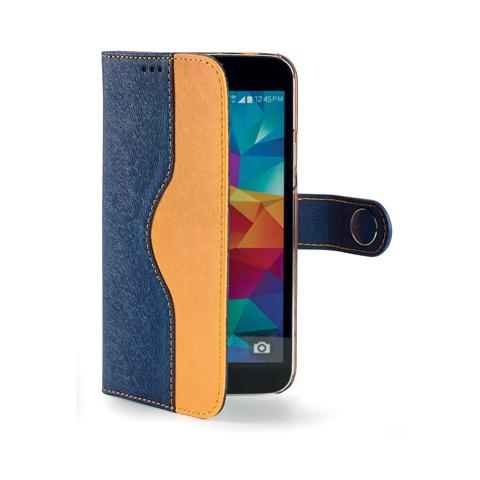 CELLY blue yellow wallet onda case for s5