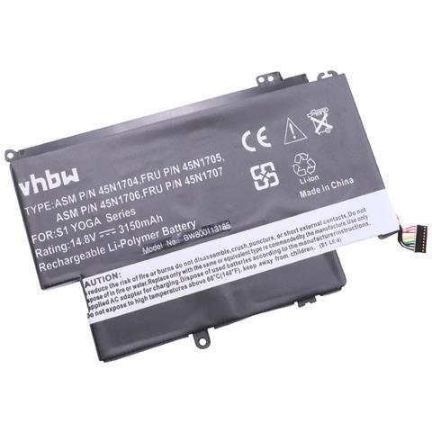 Image of Batteria Compatibile Con Lenovo Thinkpad S1 Yoga (20cda06rcd), S1 Yoga (20cda06scd) Laptop, Notebook (3150mah, 14.8v, Li-poly)